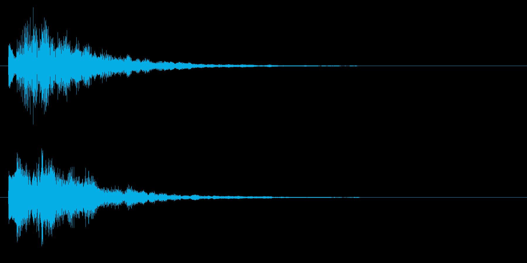 ニュースのテロップをイメージした音02の再生済みの波形