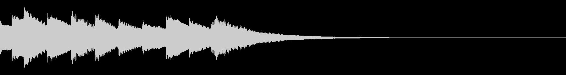 次の展開を感じるキラキラジングルの未再生の波形
