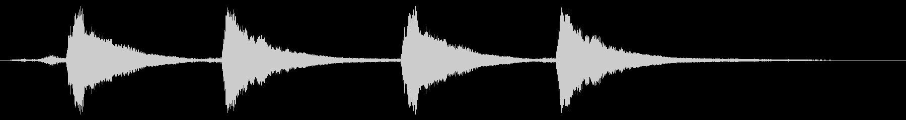レプトン教会D#ベル:4つのリングの未再生の波形