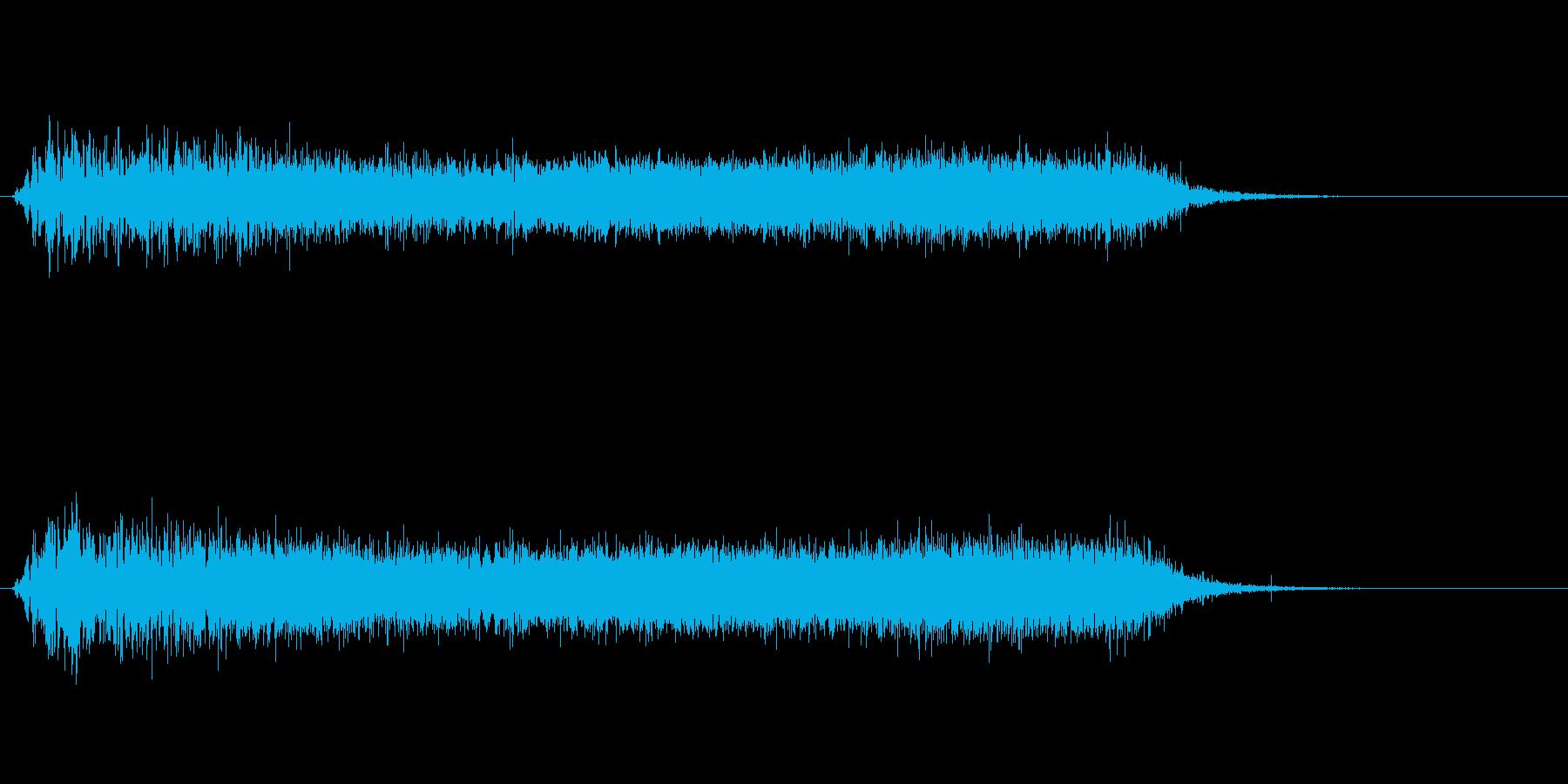 上昇音(重低音で迫力のある上昇音)の再生済みの波形