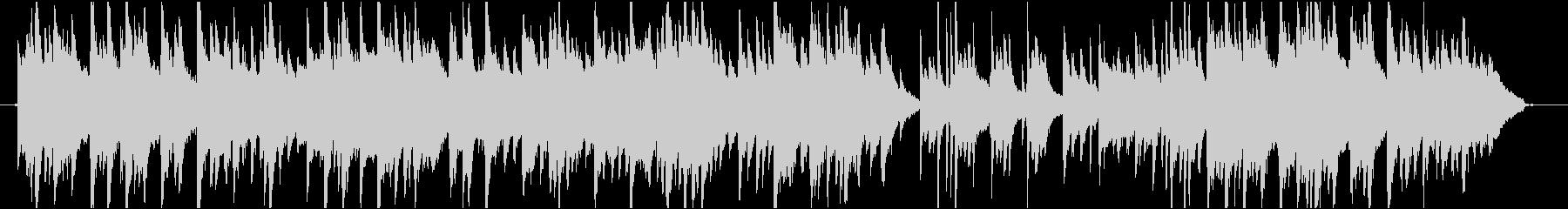 ヒーリングピアノBGM・鳥のさえずり入りの未再生の波形