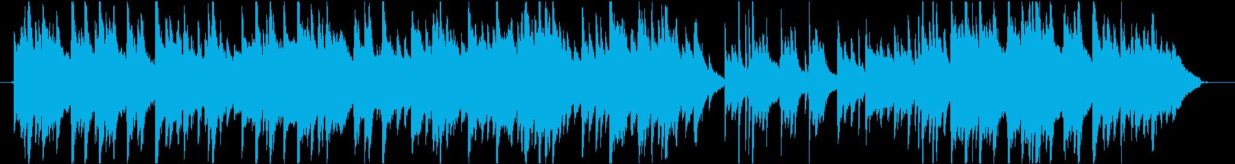 ヒーリングピアノBGM・鳥のさえずり入りの再生済みの波形