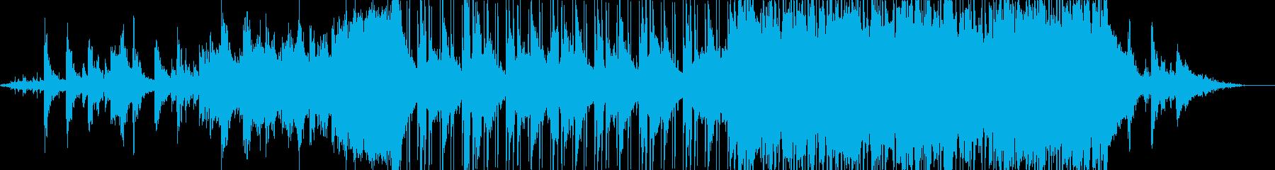 空からの映像に合うインストの再生済みの波形