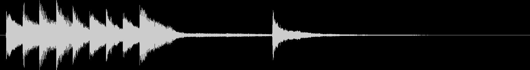 ピアノによるきれいなジングルの未再生の波形