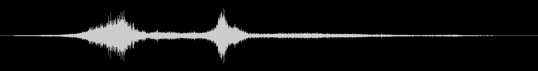 ボーカルヒューシュバイの未再生の波形