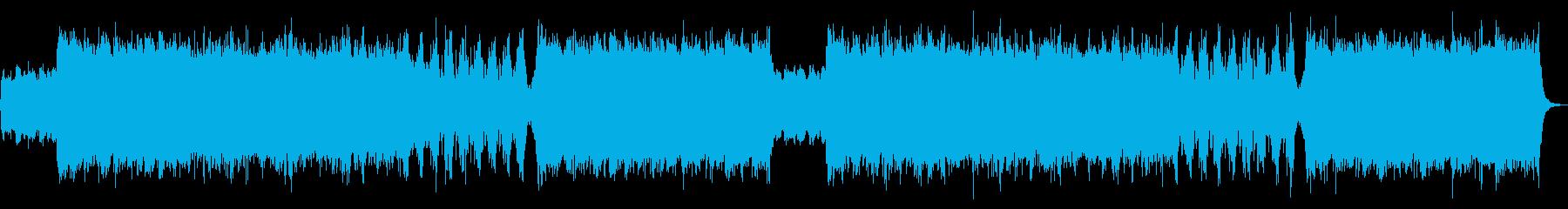 迫力あるシネマティック系オーケストラの再生済みの波形