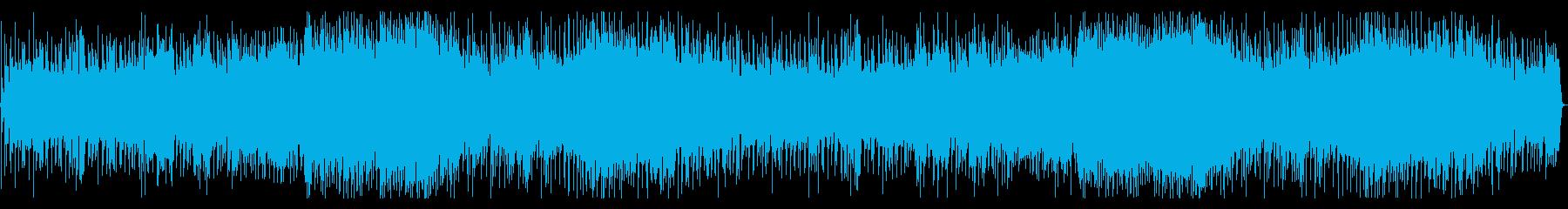 燃えるリフ系ギターインスト曲の再生済みの波形