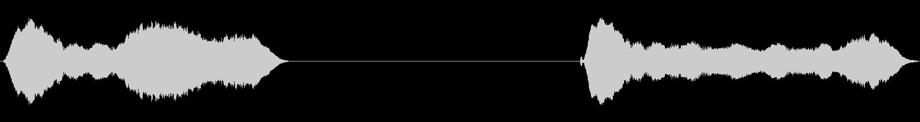 トーンホイッスルウォブルフォールwavの未再生の波形