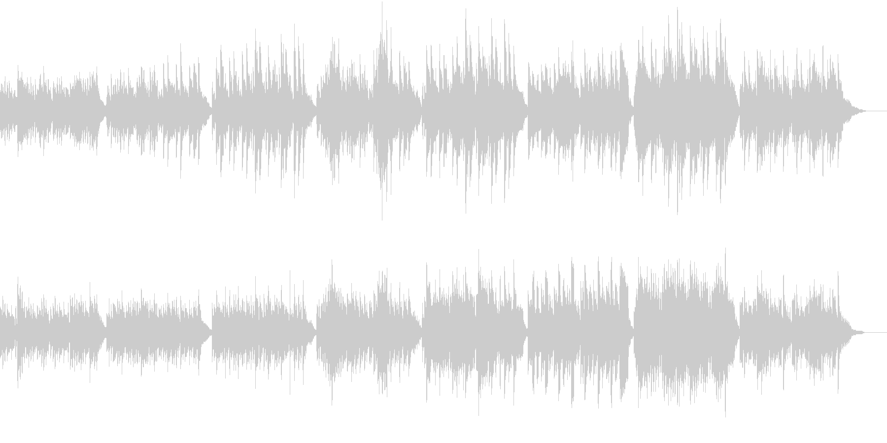 サスペンスホラー映像に合う怪しげなワルツの未再生の波形