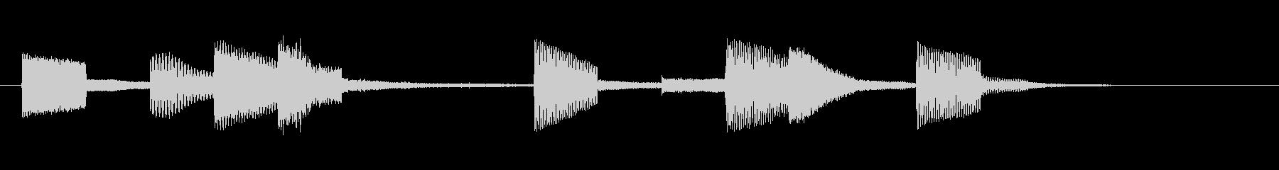 KANT近未来アラームサウンド246の未再生の波形