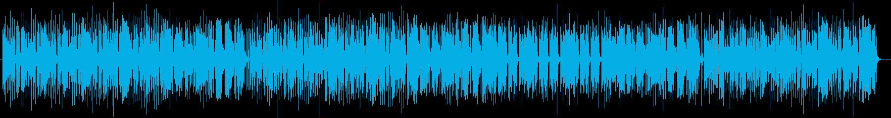 軽快でノリのあるスペースサウンドの再生済みの波形