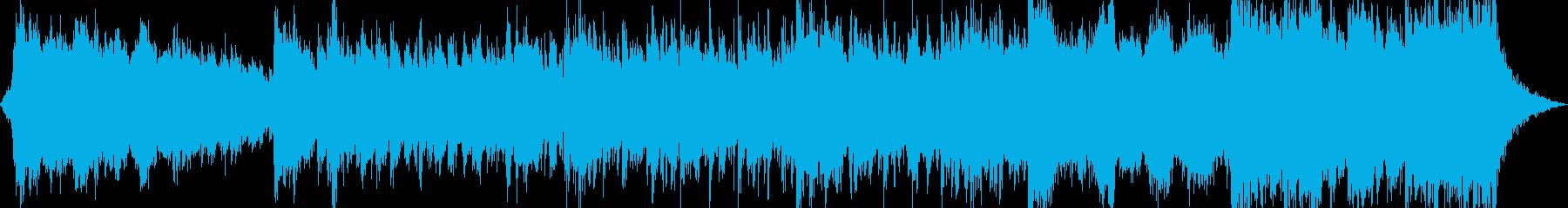 チェロ、聖歌隊、響き渡る太鼓は、威...の再生済みの波形
