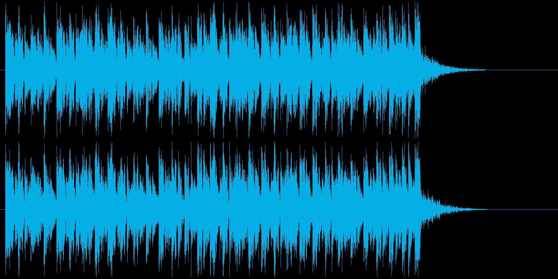 軽快で楽しいテクノサウンドの再生済みの波形
