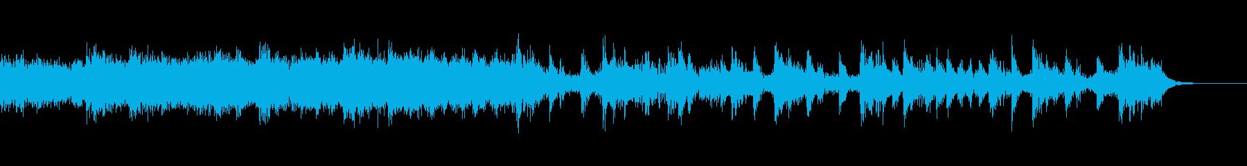 ハラハラとした雰囲気のBGMの再生済みの波形