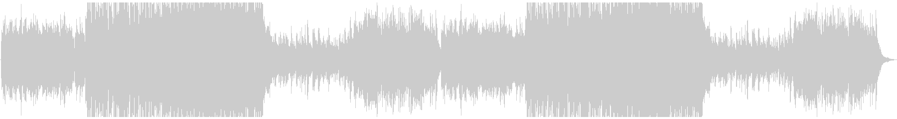 牧歌的なケルト曲の未再生の波形