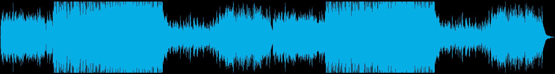 牧歌的なケルト曲の再生済みの波形