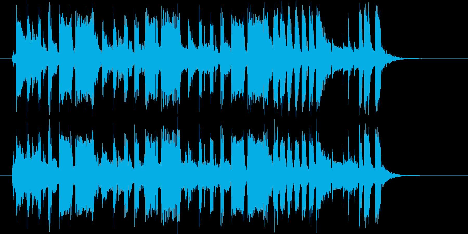 ギターと金管楽器が軽快でポップな楽曲の再生済みの波形