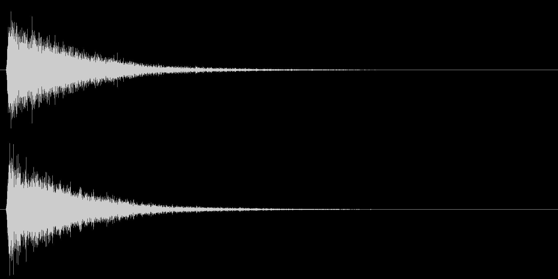 ピシュン/ワープ/移動の未再生の波形