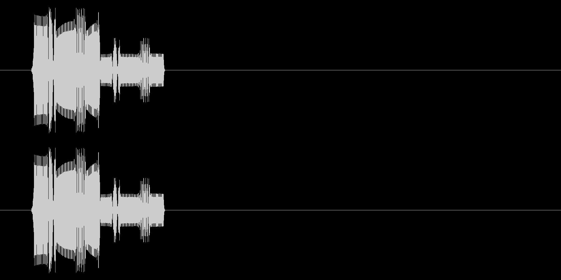 ファミコン風決定音の未再生の波形