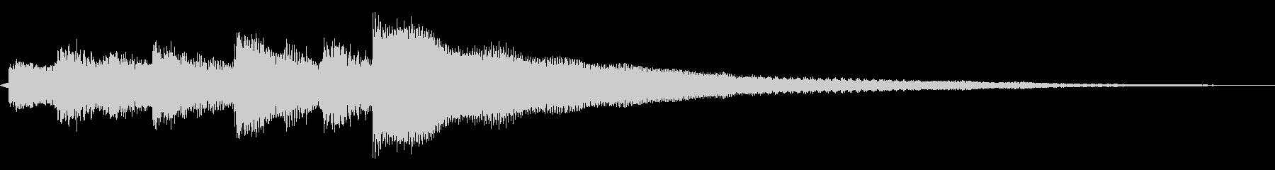 ギター ジングル ロゴの未再生の波形