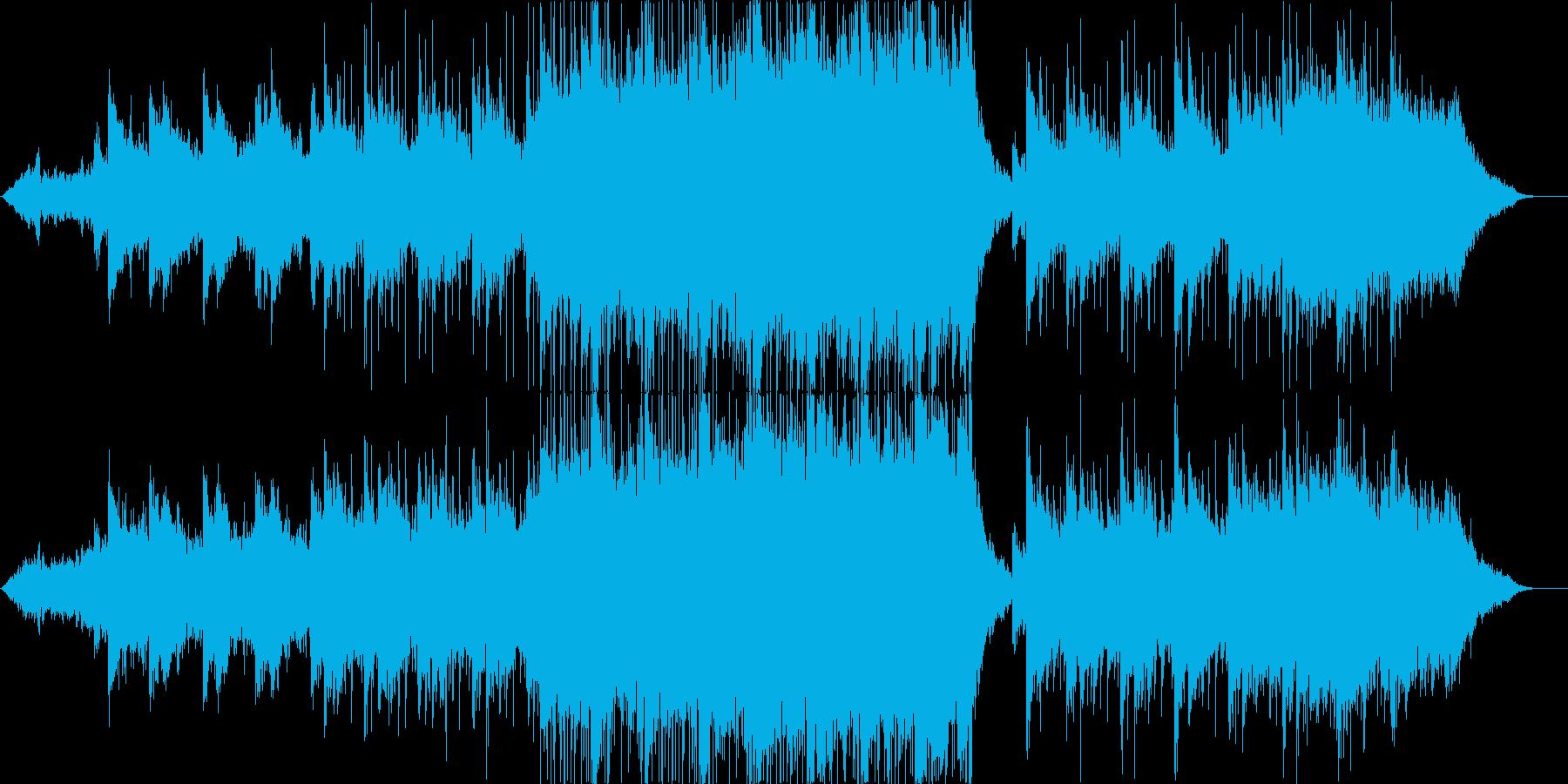 壮大で幻想的、映像向きBGMの再生済みの波形