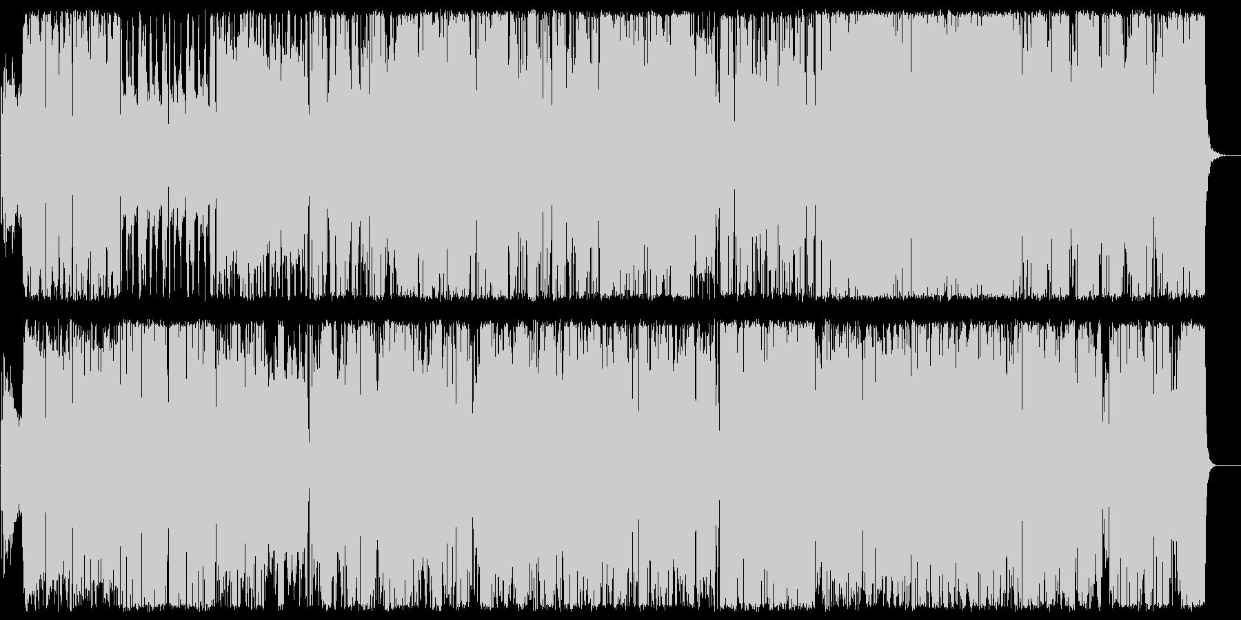 コミカルな電子音系ポップスの未再生の波形