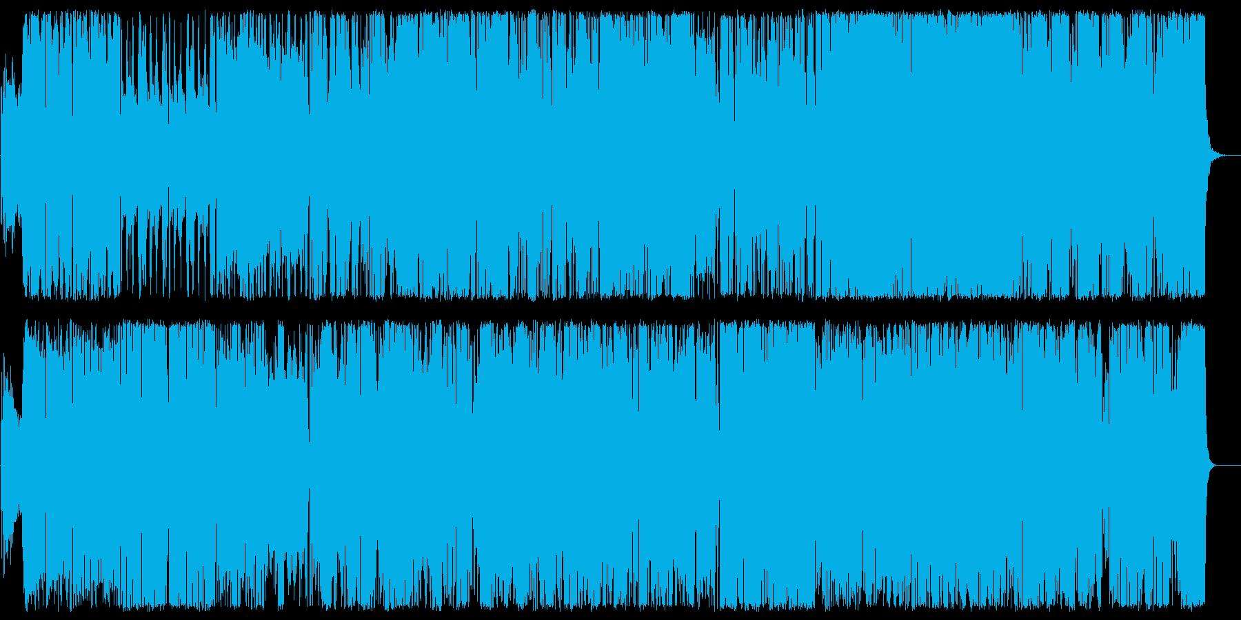 コミカルな電子音系ポップスの再生済みの波形