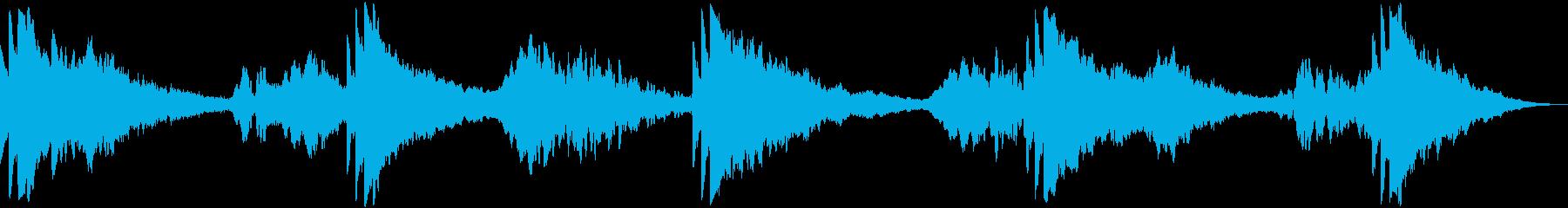 不吉な潮の音楽パッドの再生済みの波形