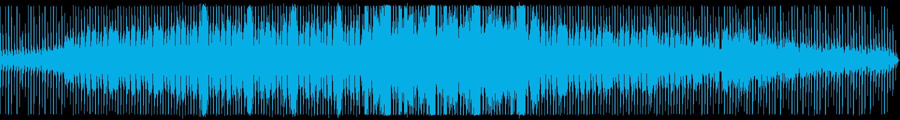 四つ打ちテクノの再生済みの波形