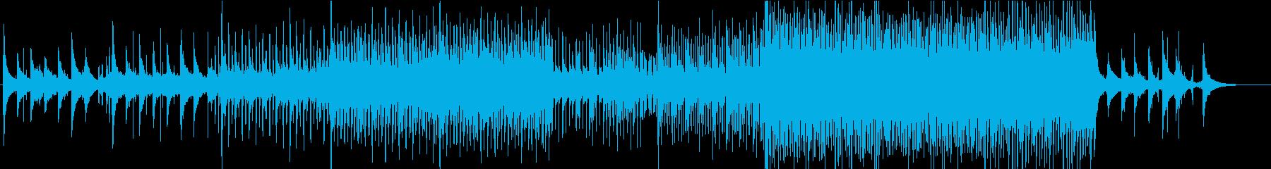 映画のワンシーン 夜から朝になるイメージの再生済みの波形