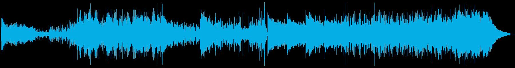 にぎやかでハイテクな雰囲気のメロディーの再生済みの波形
