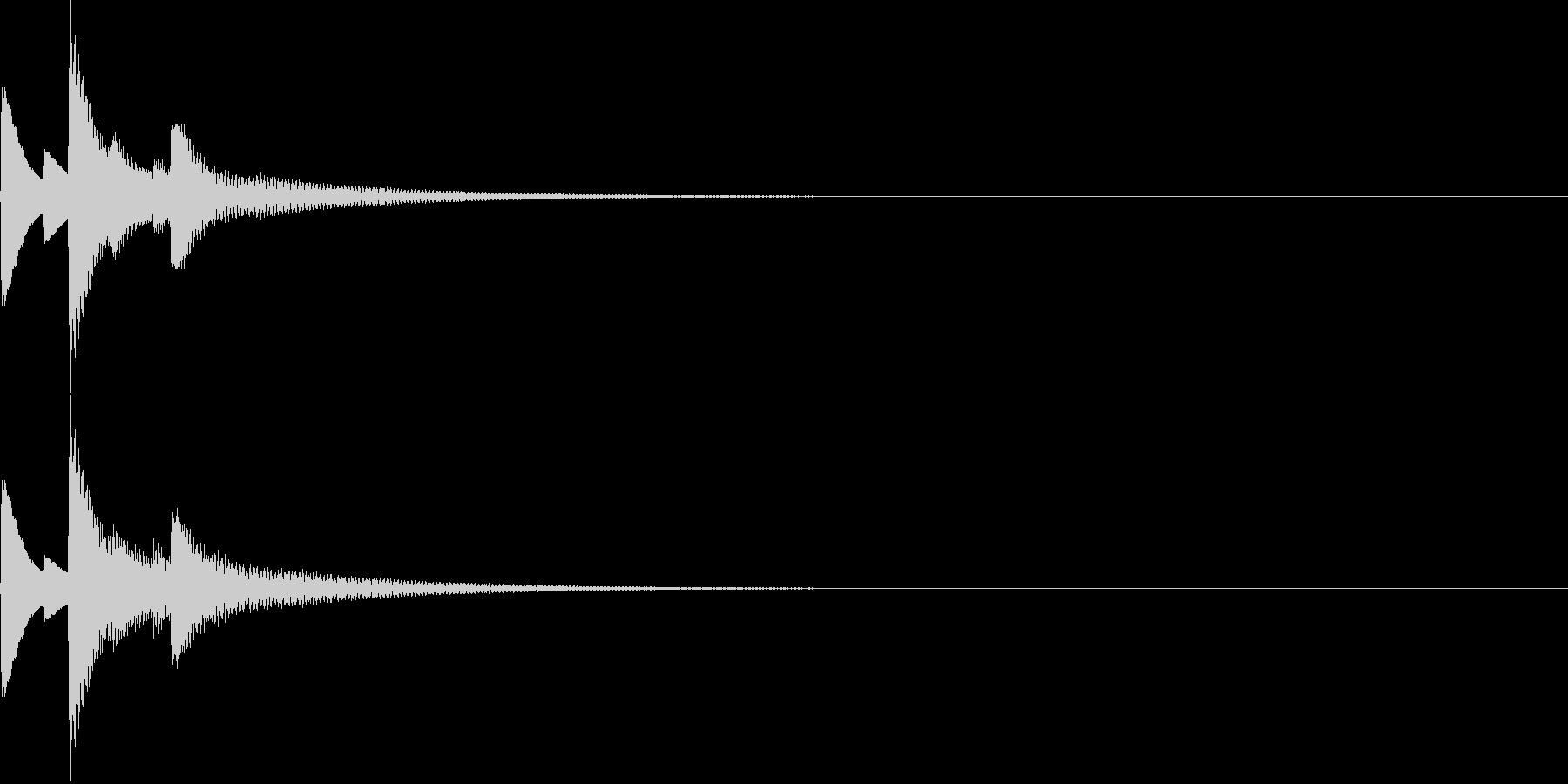シンプルな入手音の未再生の波形