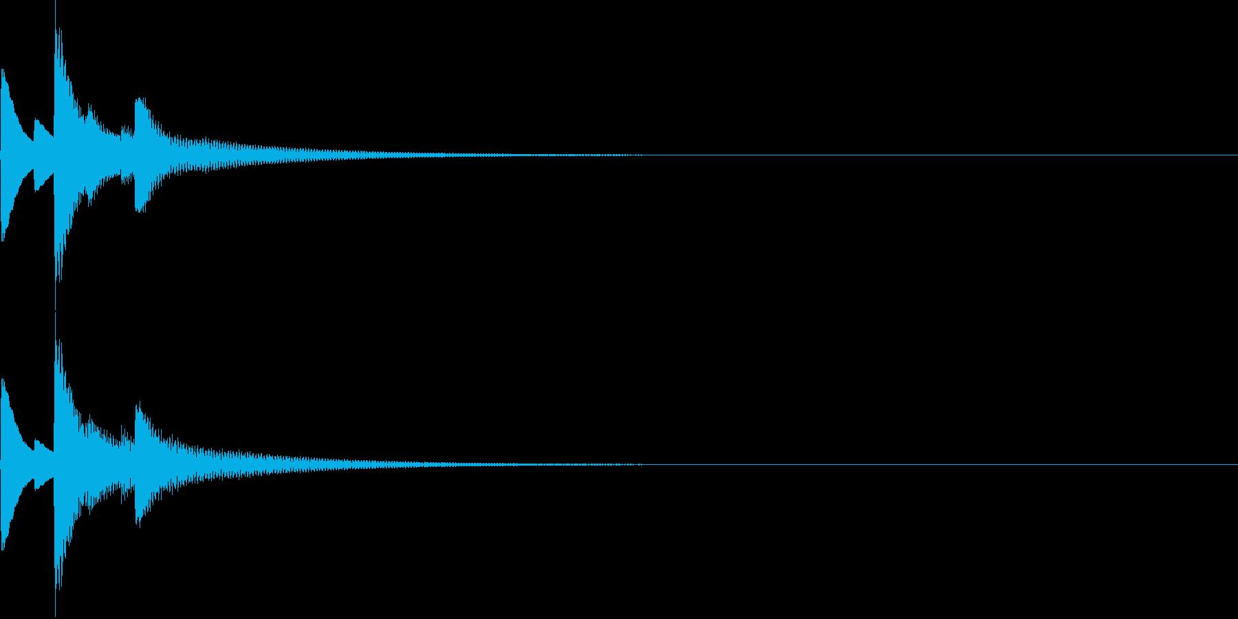シンプルな入手音の再生済みの波形