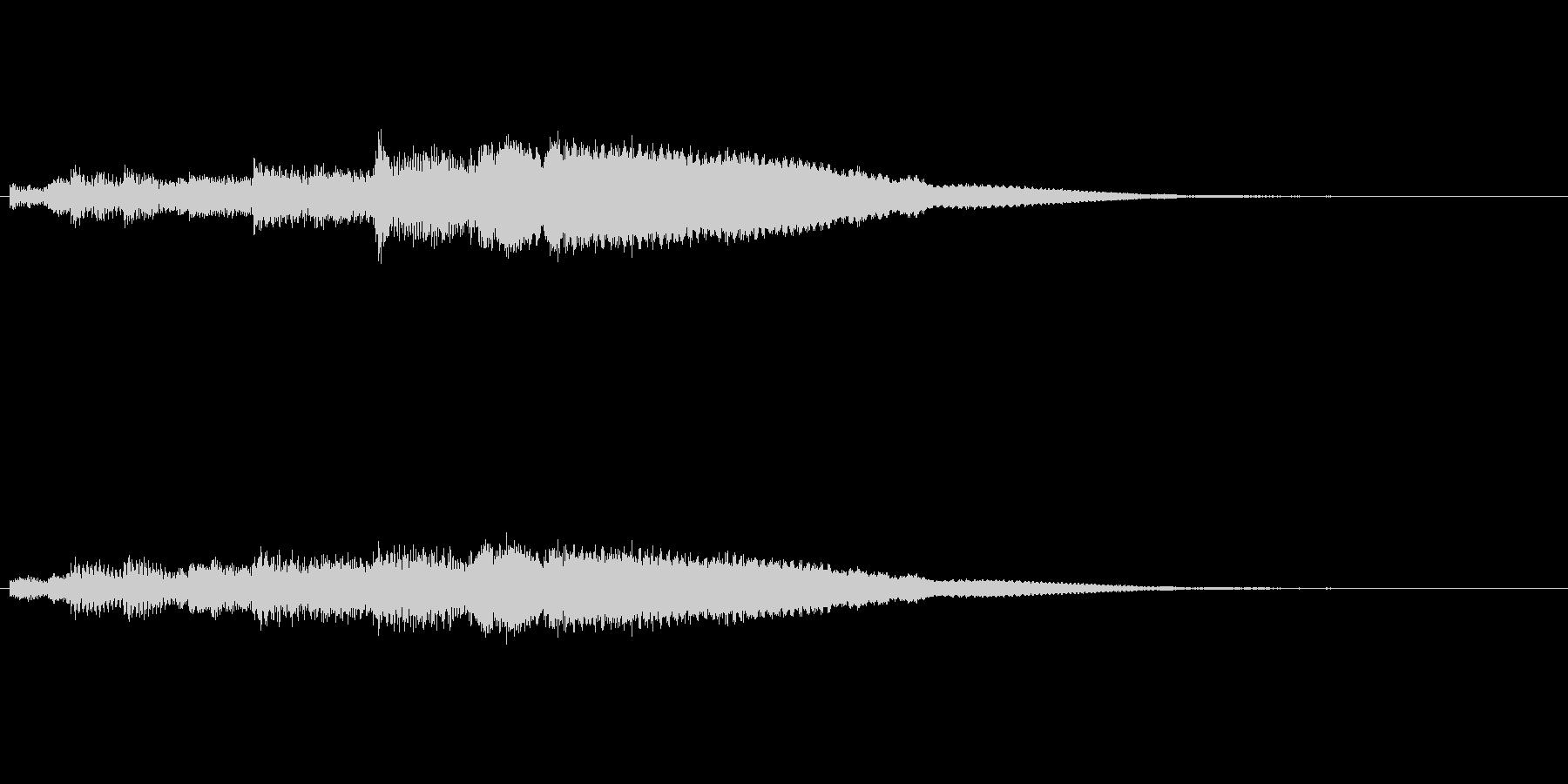 シンプルなベル音アイキャッチの未再生の波形