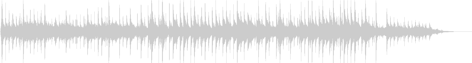 三線を使った幻想的な曲の未再生の波形