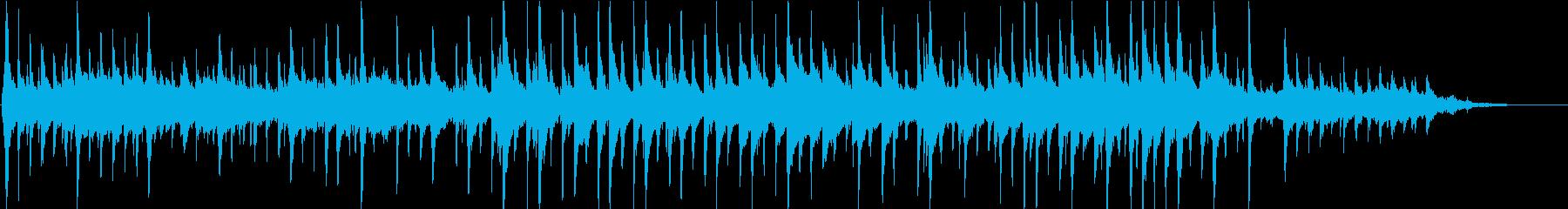 三線を使った幻想的な曲の再生済みの波形