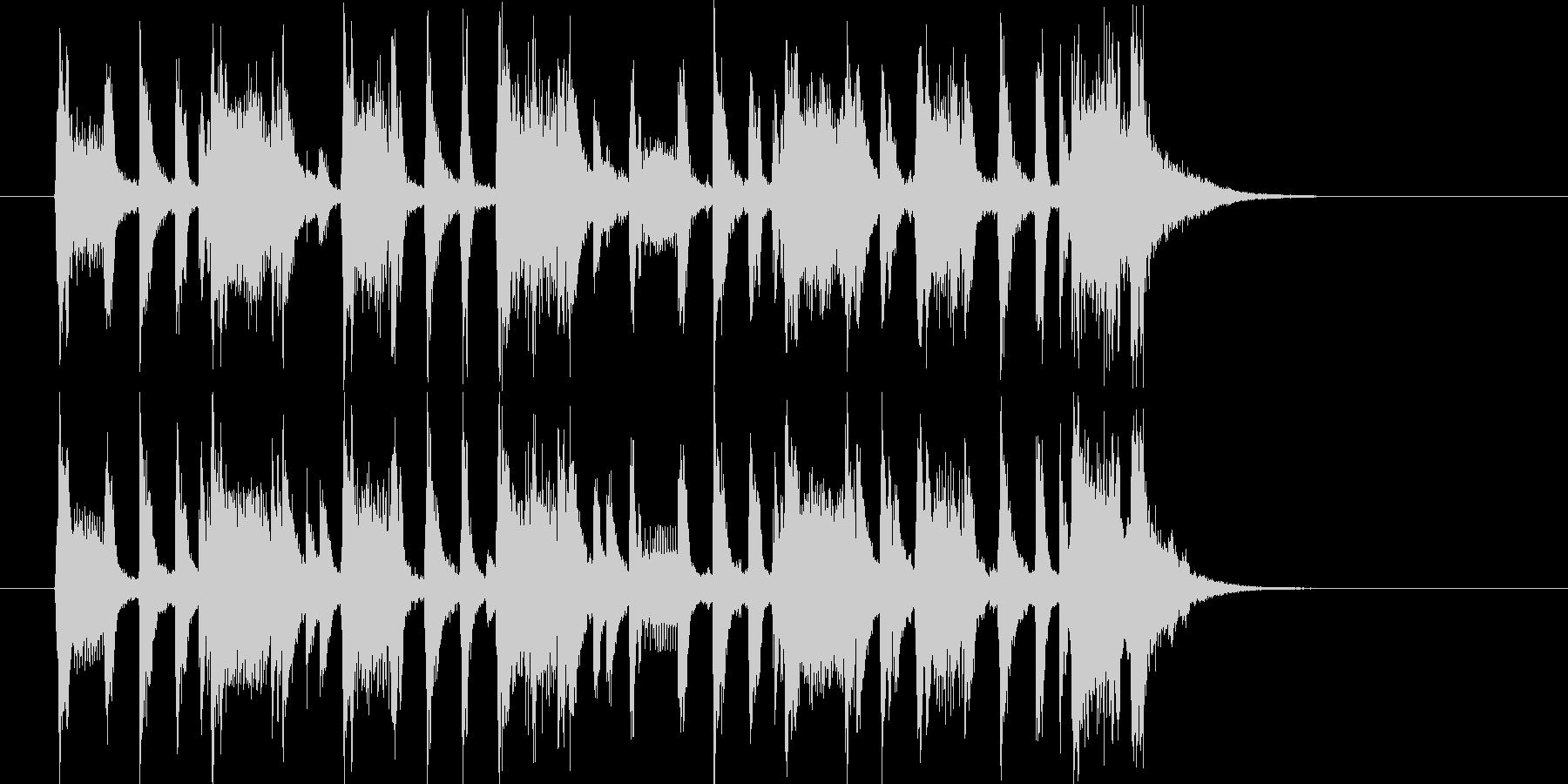 ゆったりとメローなトランペットジングルの未再生の波形