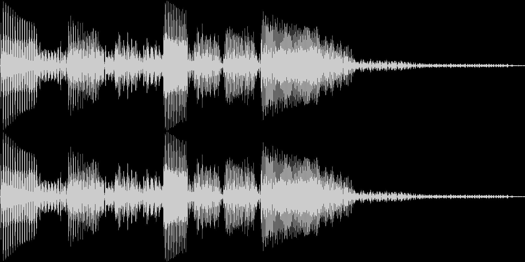 エレキベースのフレーズ1の未再生の波形