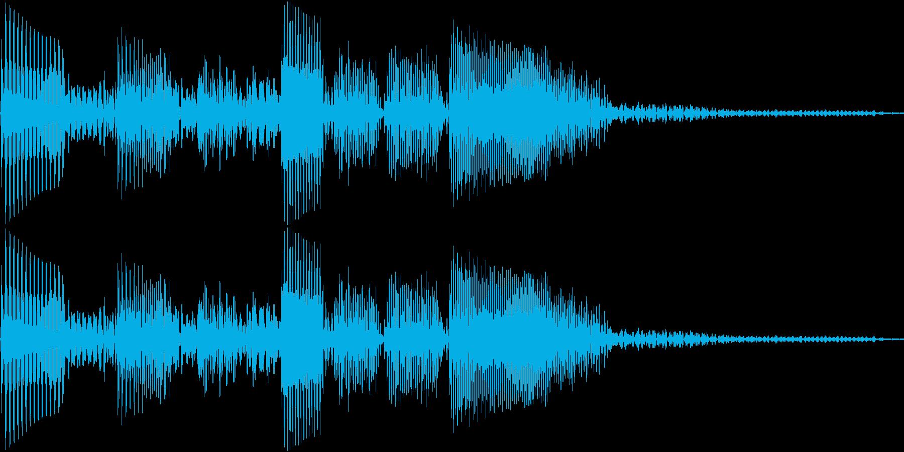 エレキベースのフレーズ1の再生済みの波形
