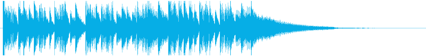 オープニング用ショートジングルの再生済みの波形