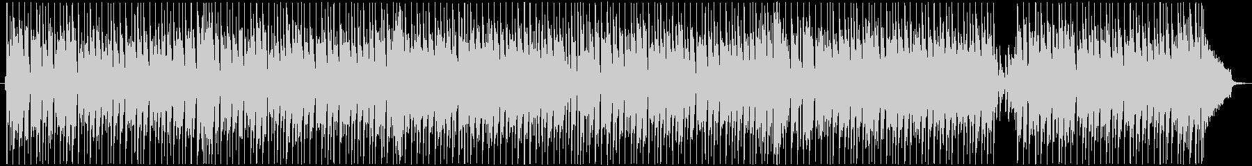 軽快でコミカル、楽しいBGMの未再生の波形