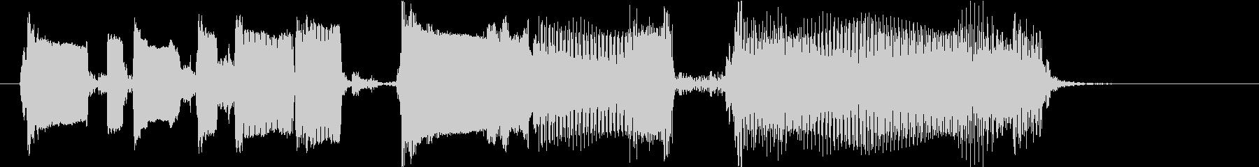 コミカルなギタージングルの未再生の波形
