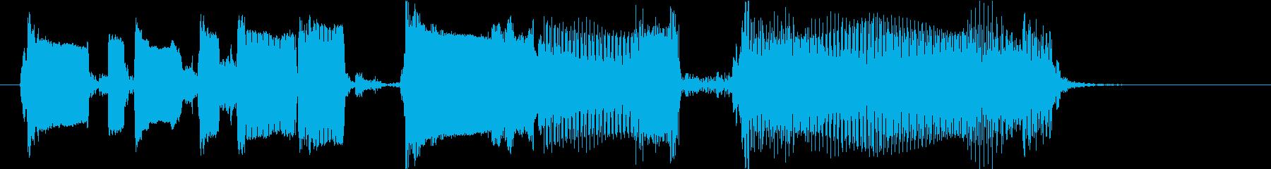 コミカルなギタージングルの再生済みの波形