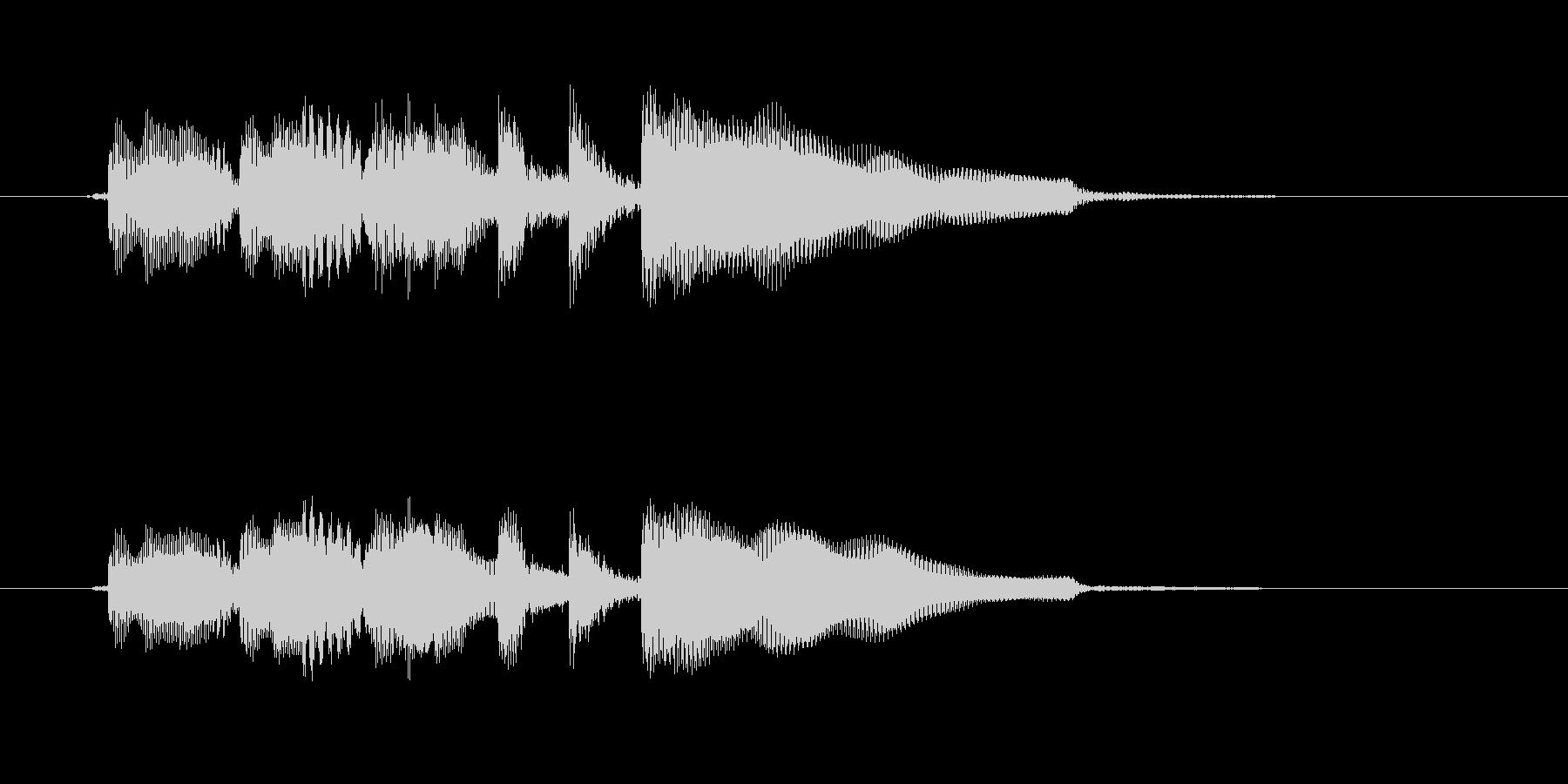 ギターのアルペジオによるシンプルで短い曲の未再生の波形