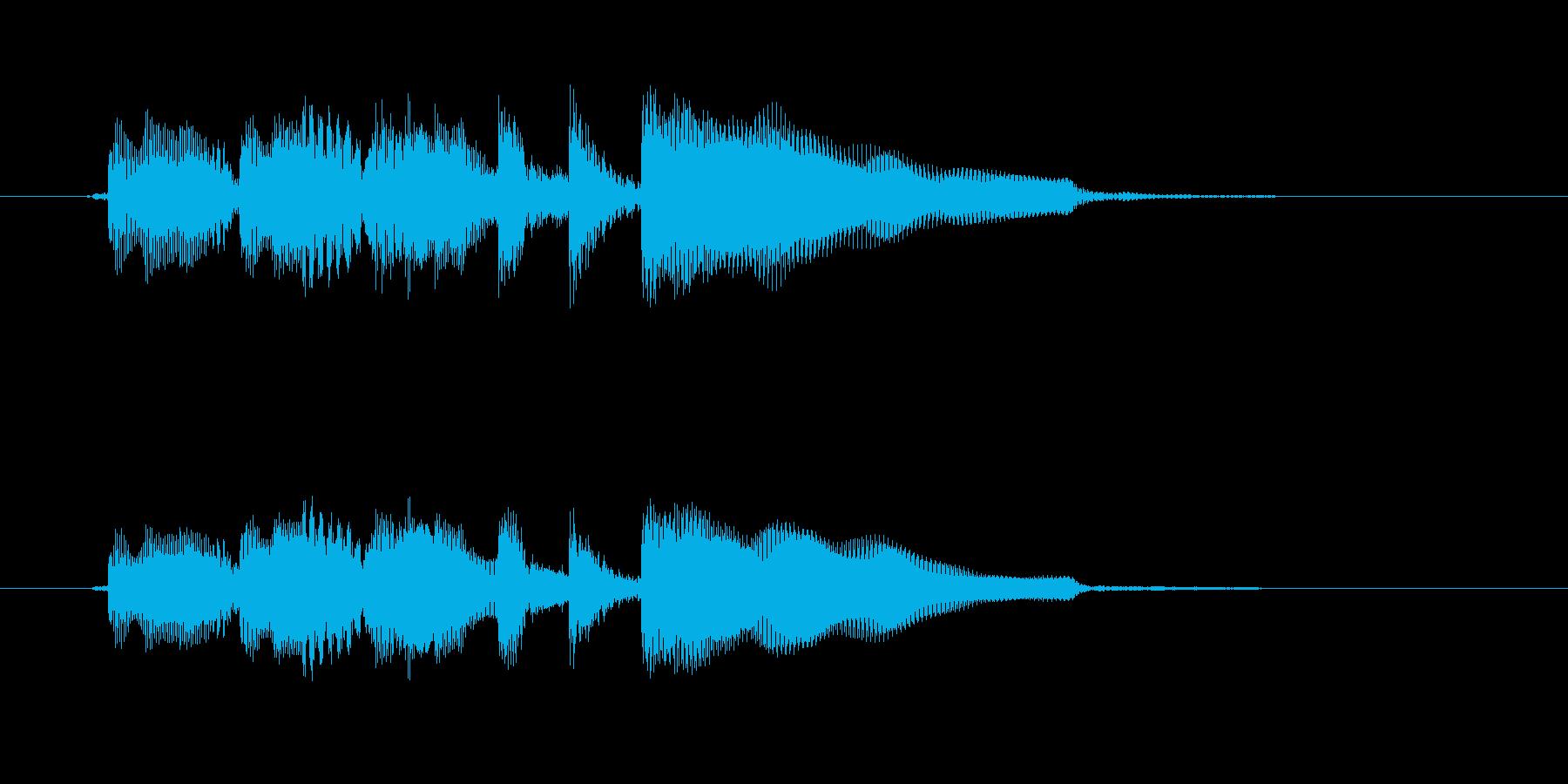 ギターのアルペジオによるシンプルで短い曲の再生済みの波形