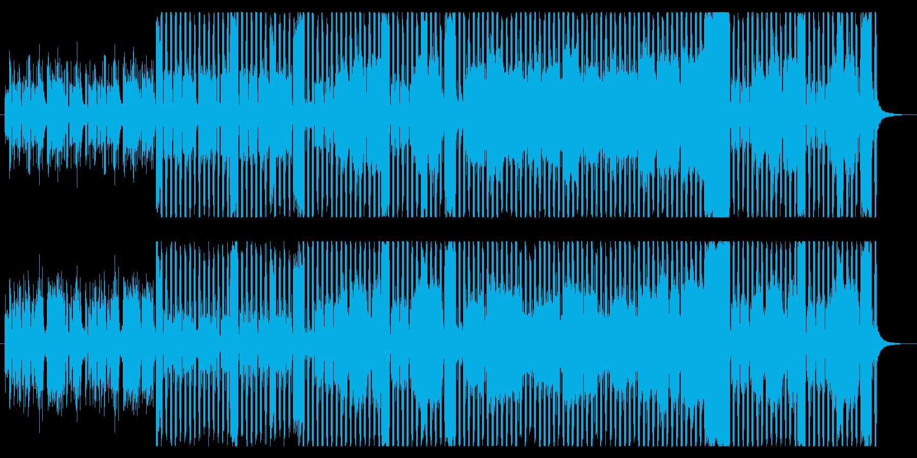 シンプルで明るいフルートBGMの再生済みの波形