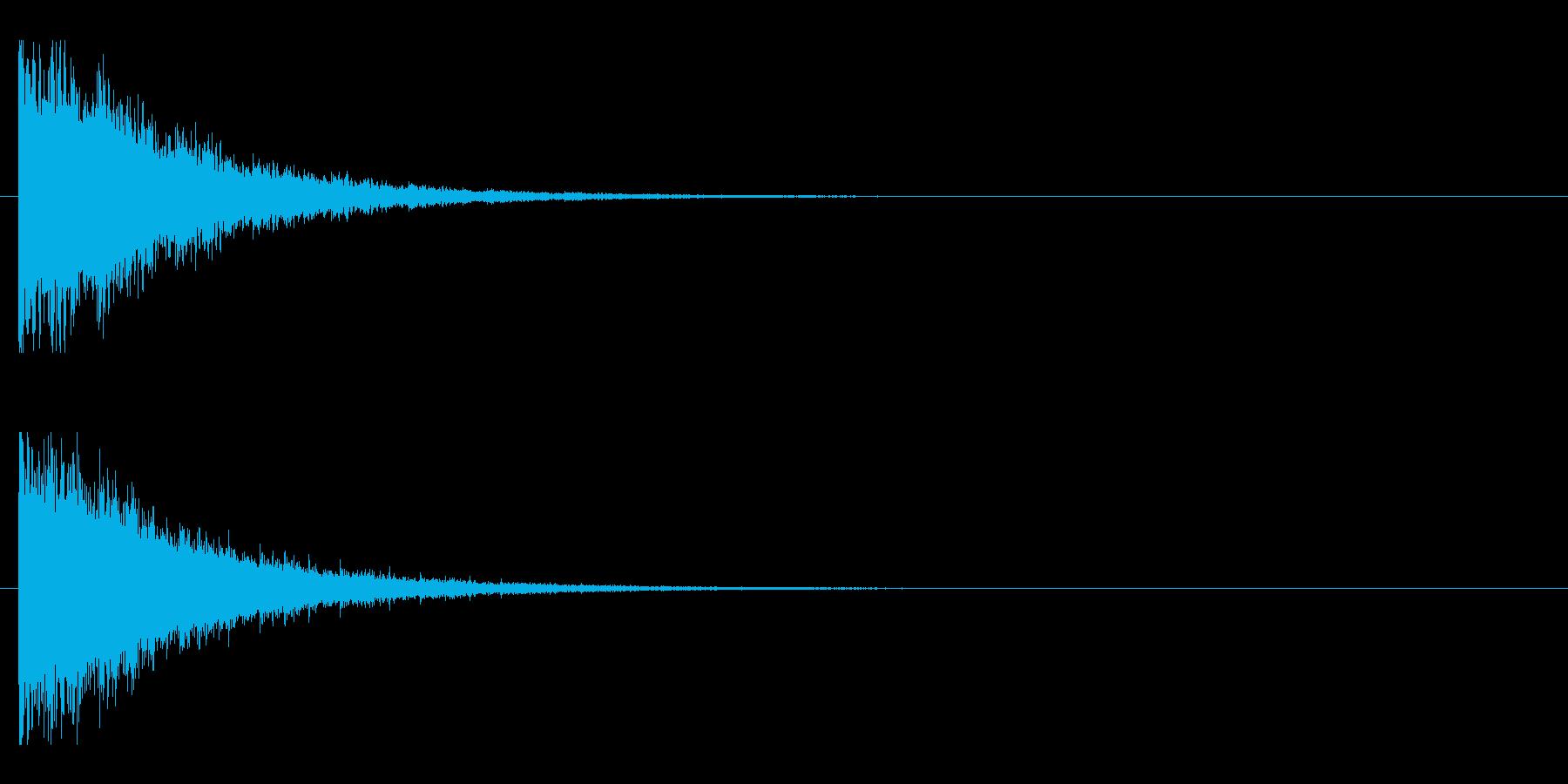 レーザー音-145-2の再生済みの波形