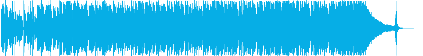 ロックバンドのジャムセッション風の再生済みの波形