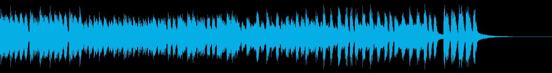 ピアノの賑やかなショートミュージックの再生済みの波形