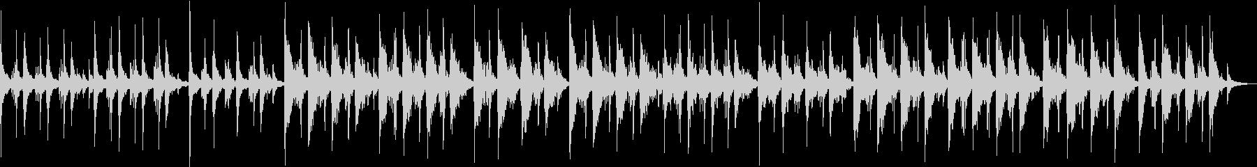 ピアノの優しい音色のリラクゼーション音楽の未再生の波形